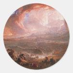 Destruction Of Pompeii And Herculaneum Round Sticker
