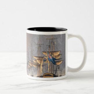 Destruction of the Danish Fleet before Copenhagen, Two-Tone Coffee Mug