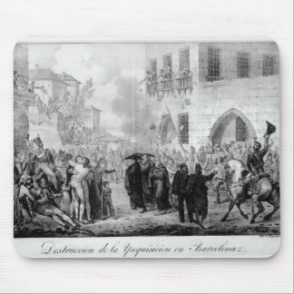 Destruction of the Inquisition in Barcelona Mouse Mat