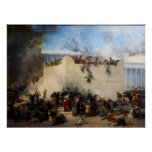 Destruction of the Jewish Temple in Jerusalem Poster