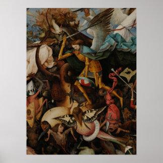 Detail: Fall of the Rebel Angels by Pieter Bruegel Poster
