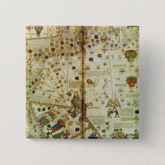 Detail from a Catalan World Map 15 Cm Square Badge