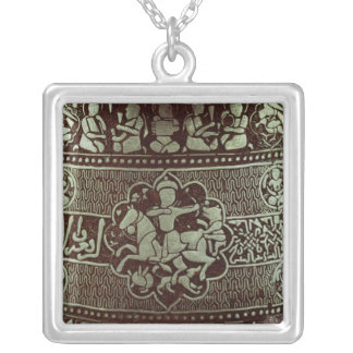 Detail from a lamp, from Egypt, 1282 Silver Plated Necklace