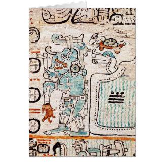 Detail from a Mayan codex Card