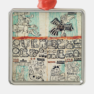 Detail from a Mayan codex Christmas Ornament