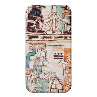 Detail from a Mayan codex Covers For iPhone 4