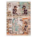 Detail from a Mayan codex Greeting Card