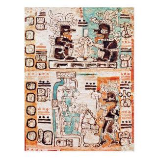 Detail from a Mayan codex Postcard