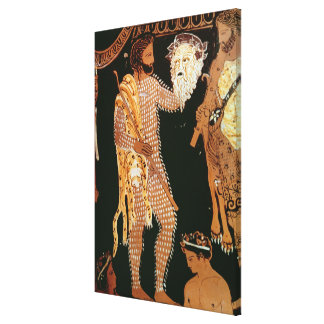 Detail from a red-figure vase showing an actor hol gallery wrap canvas