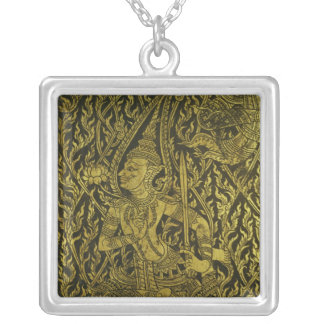 Detail from a Thai cabinet Silver Plated Necklace