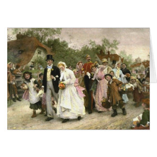 Detail from A Village Wedding by Luke Fildes Note Card