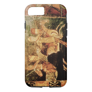 Detail from a wedding chest depicting soldiers goi iPhone 8/7 case