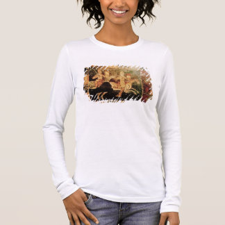 Detail from a wedding chest depicting soldiers goi long sleeve T-Shirt