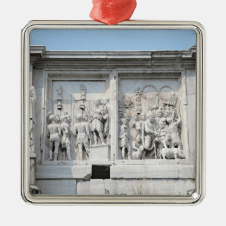 Detail from the Arch of Constantine Silver-Colored Square Decoration