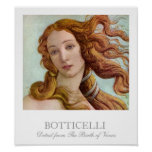 Detail from The Birth of Venus by Botticelli Posters