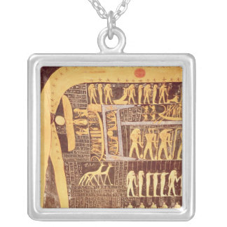 Detail from the Book of the Day Silver Plated Necklace