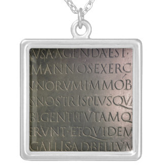 Detail from the Claudian Table Silver Plated Necklace