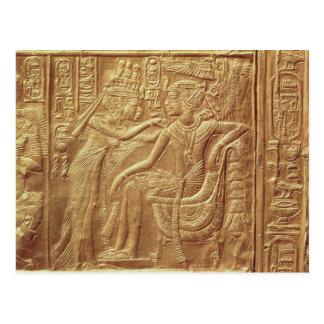 Detail from the little shrine of Tutankhamun Post Cards