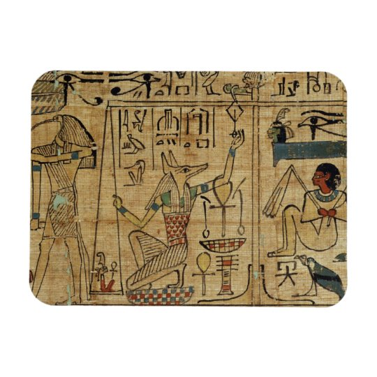 Detail from the papyrus of Nespakashuty, New Kingd Rectangular Photo Magnet
