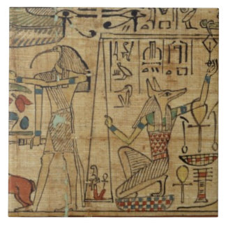 Detail from the papyrus of Nespakashuty, New Kingd Tile