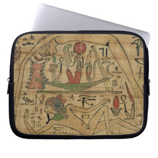 Detail from the papyrus of Nespakashuty showing th Laptop Sleeve
