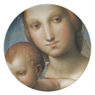 Detail from <Virgin and Child> Attributed to Rapha Dinner Plates
