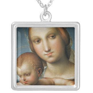 Detail from <Virgin and Child> Attributed to Rapha Silver Plated Necklace