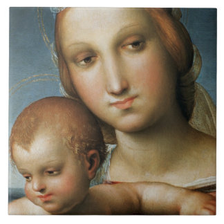 Detail from <Virgin and Child> Attributed to Rapha Tile