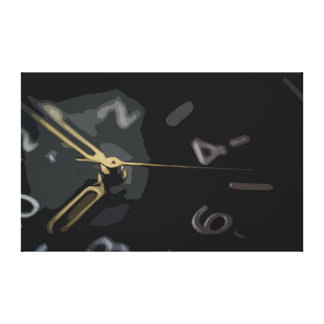 Detail of a Black and Golden Wristwatch Canvas