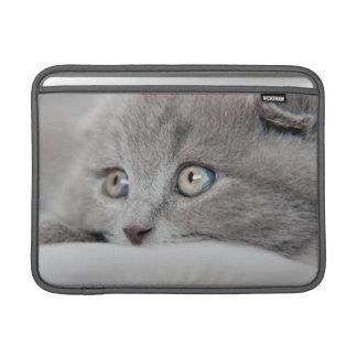 Detail Of A Cat Eyes MacBook Sleeve