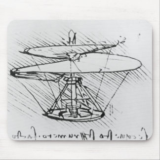Detail of a design for a flying machine, c.1488 mouse mat
