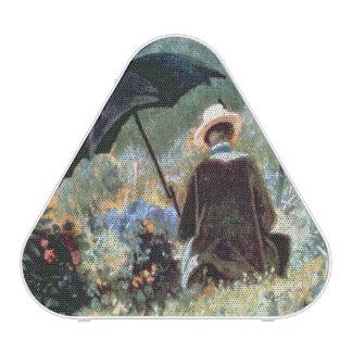 Detail of a Gentleman reading in a garden