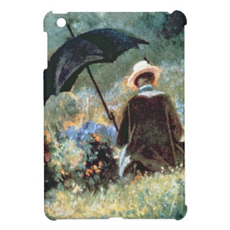 Detail of a Gentleman reading in a garden iPad Mini Covers