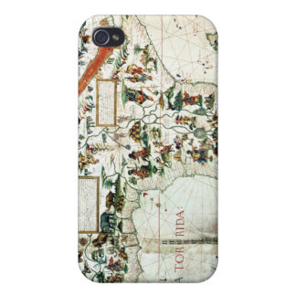 Detail of a map of the world showing Africa iPhone 4/4S Case