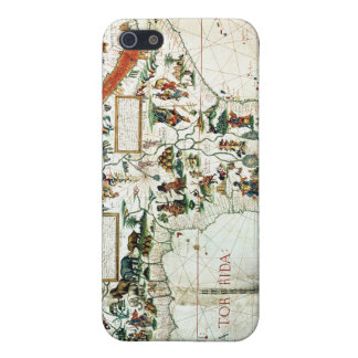 Detail of a map of the world showing Africa iPhone 5/5S Covers