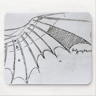 Detail of a mechanical wing mouse pad