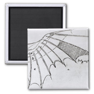 Detail of a mechanical wing square magnet