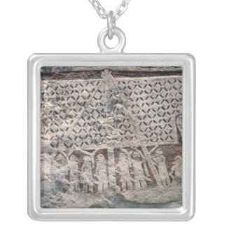 Detail of a picture stone depicting a Viking Silver Plated Necklace