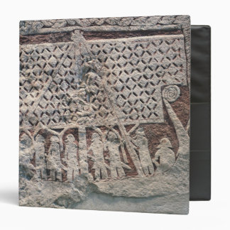 Detail of a picture stone depicting a Viking Vinyl Binder