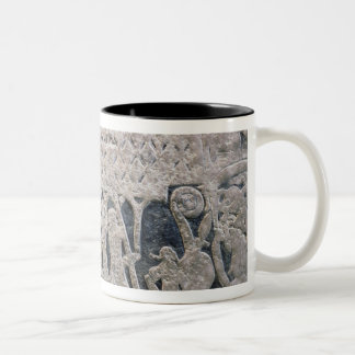 Detail of a picture stone Two-Tone mug