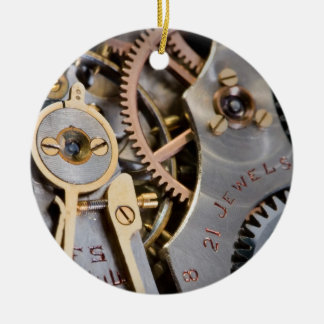 Detail of a pocket watch christmas ornament