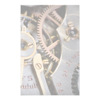 Detail of a pocket watch stationery design