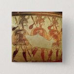 Detail of a red figure krater 15 cm square badge