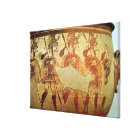 Detail of a red figure krater canvas print