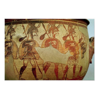 Detail of a red figure krater poster