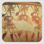 Detail of a red figure krater square sticker