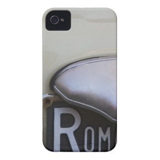 detail of a Roma number plate on a small Italian Case-Mate iPhone 4 Case