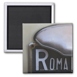 detail of a Roma number plate on a small Italian Square Magnet