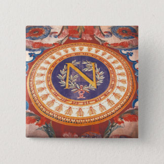 Detail of a rug with the 'N' of Napoleon I 15 Cm Square Badge