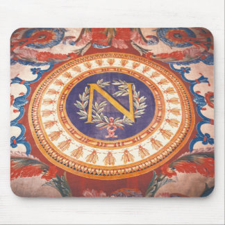 Detail of a rug with the 'N' of Napoleon I Mouse Pad